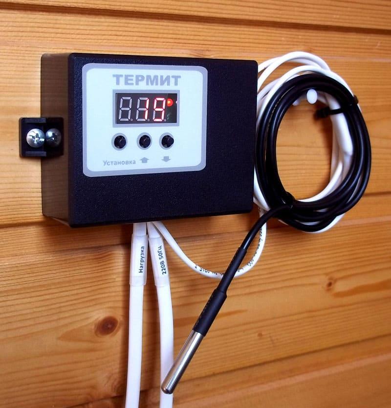 Для банного варианта термостата важна работа при повышенных температурах