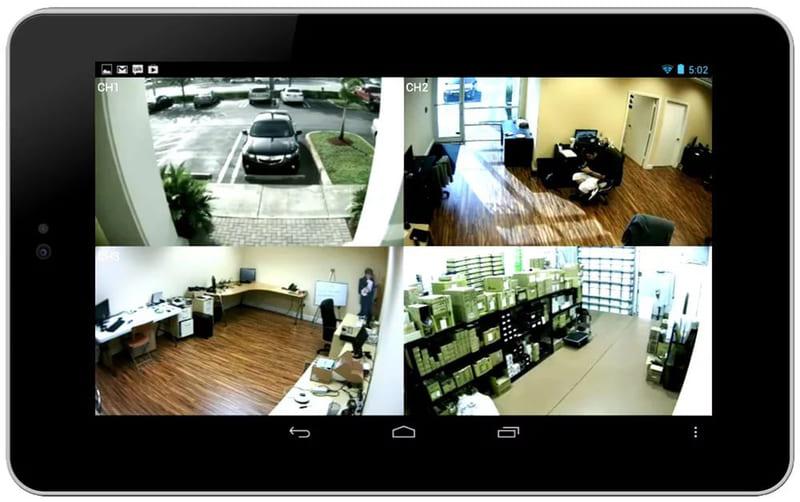 Изображение с камер наблюдения можно вывести на компьютер, планшет или телефон