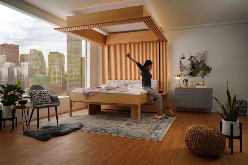 Управляется умная кровать просто со смартфона или голосом