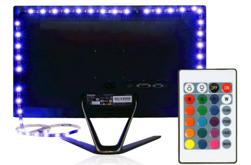 С этой подсветкой телевизора ваша комната приобретет новый вид с нотками романтики!