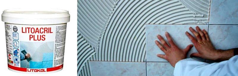ФОТО: masteravannoy.ru Благодаря мощной адгезии, дисперсионный состав позволяет клеить плитку даже на старый слой керамики