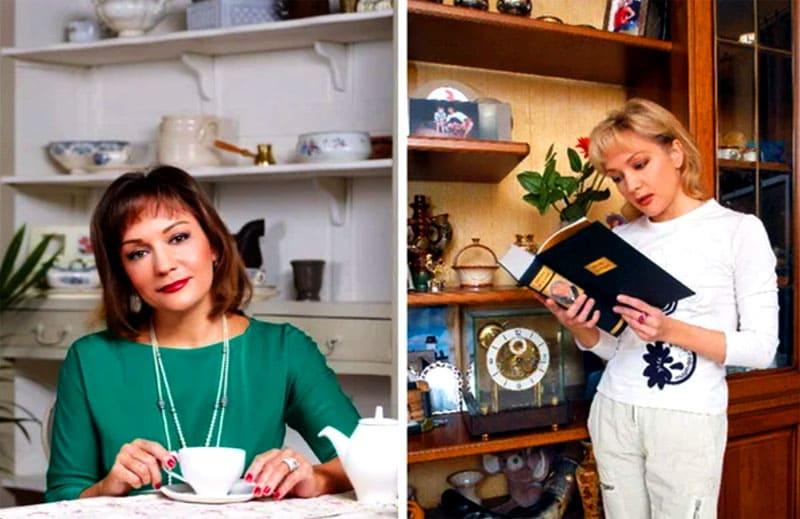 Татьяна Буланова очень любит открытые полочки, они украшают не только гостиную, но и кухню