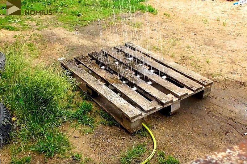 Летний душ на дачу из старого поддона: мастер-класс от читателя Homius