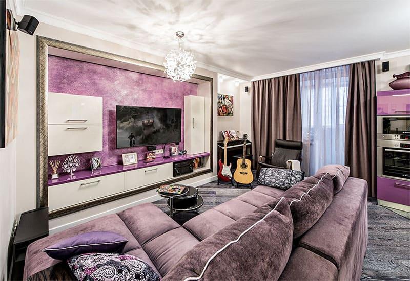 ФОТО: fashion-int.ru Цвет фуксии присутствует во всех комнатах Марины
