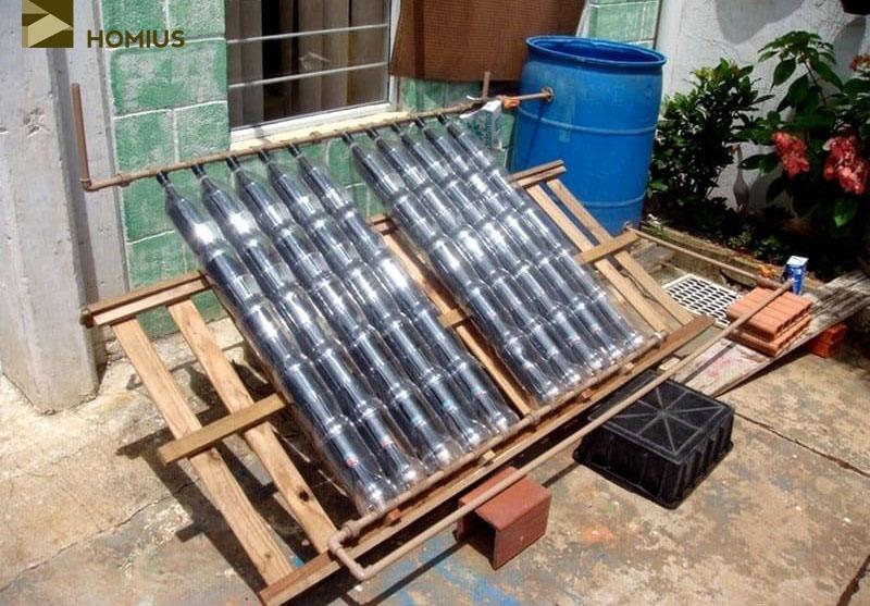 солнечный коллектор из пластиковых бутылок