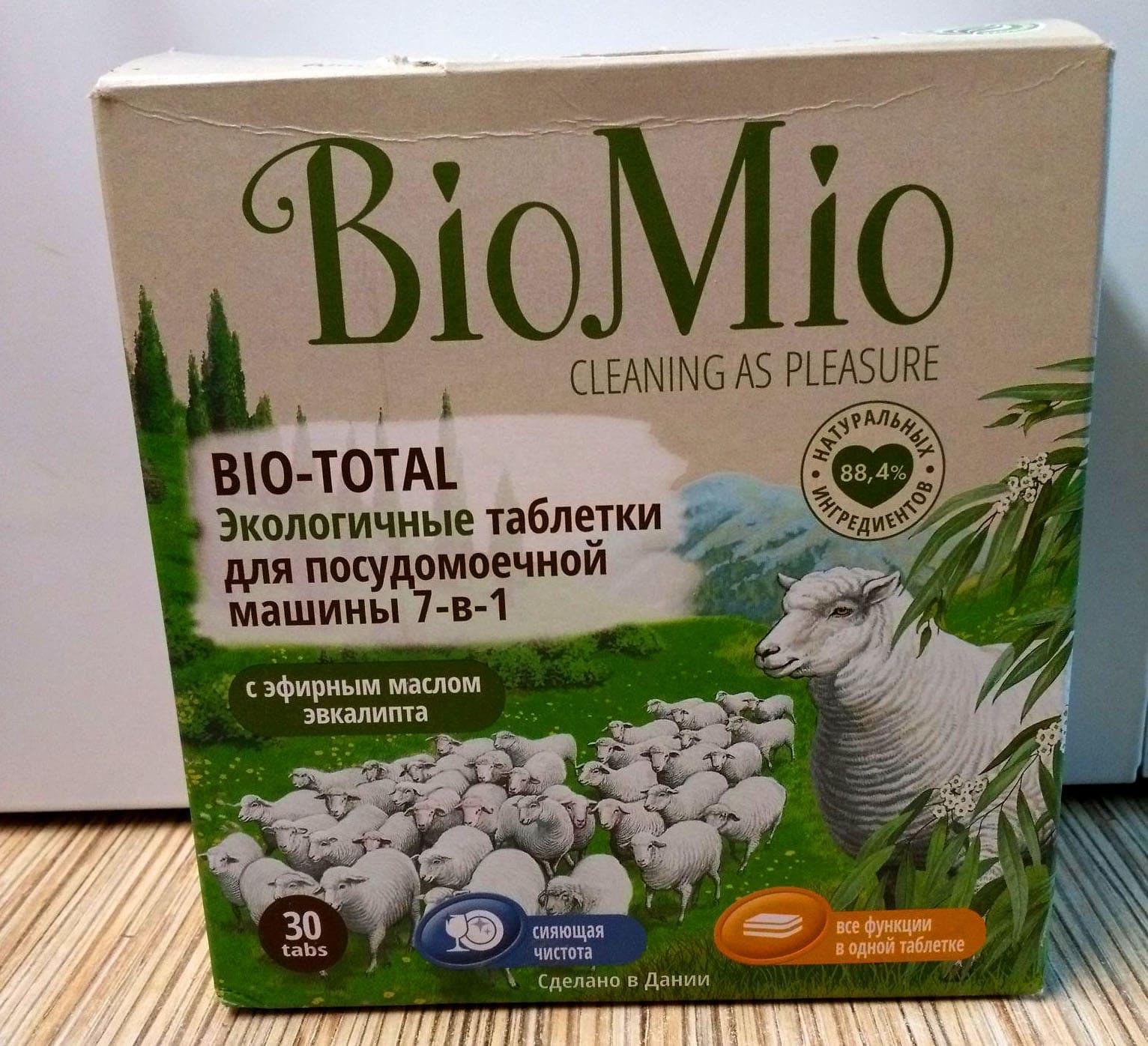 Состав BioMio Bio-total имеет приятный запах эвкалипта