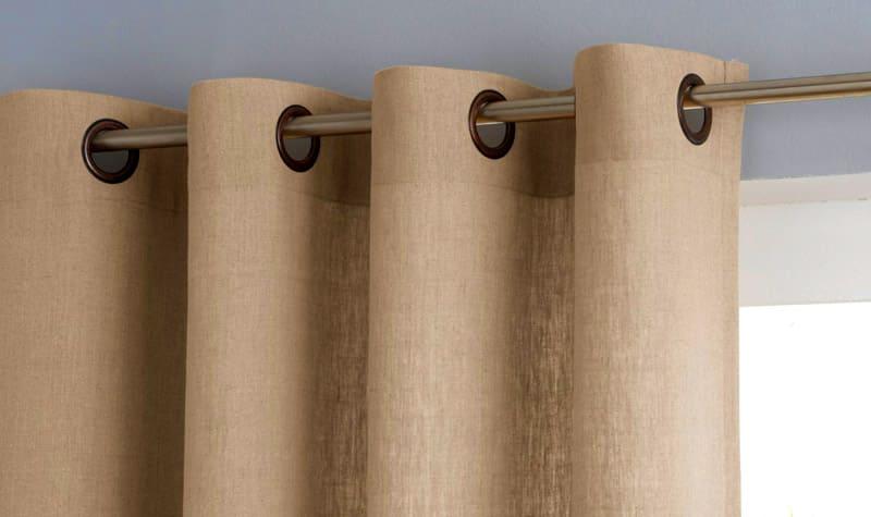 Складки у портьер будут большими и красивыми