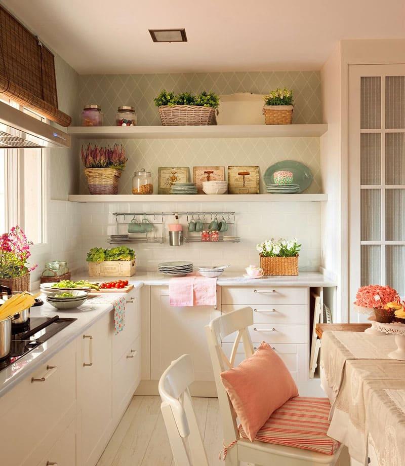 Прекрасная идея для небольшой кухни