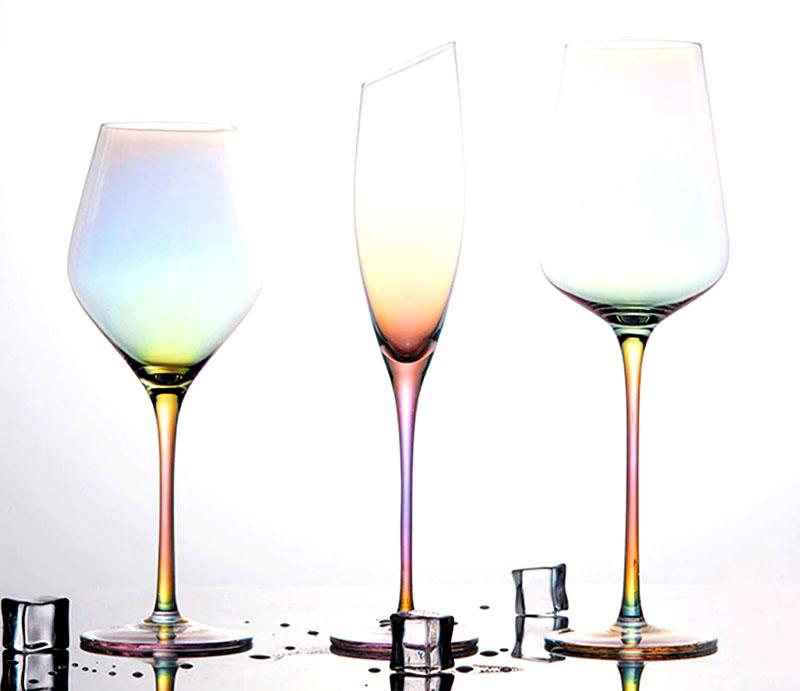 Бокалы из цветного хрустального стекла
