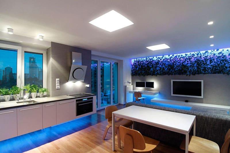 В по-настоящему дорогих домах и апартаментах обычно многоуровневое освещение с индивидуальной настройкой