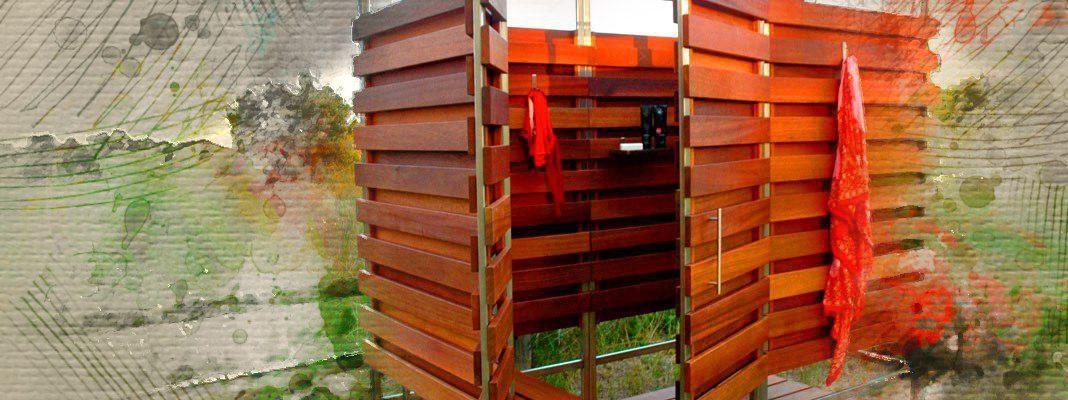 Летний душ на даче своими руками
