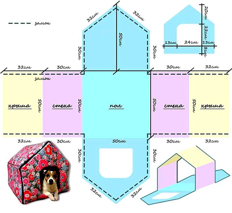 Все размеры можно скорректировать исходя из индивидуальных параметров собачки