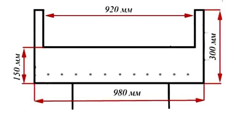 Примерная разметка газового баллона с размерами