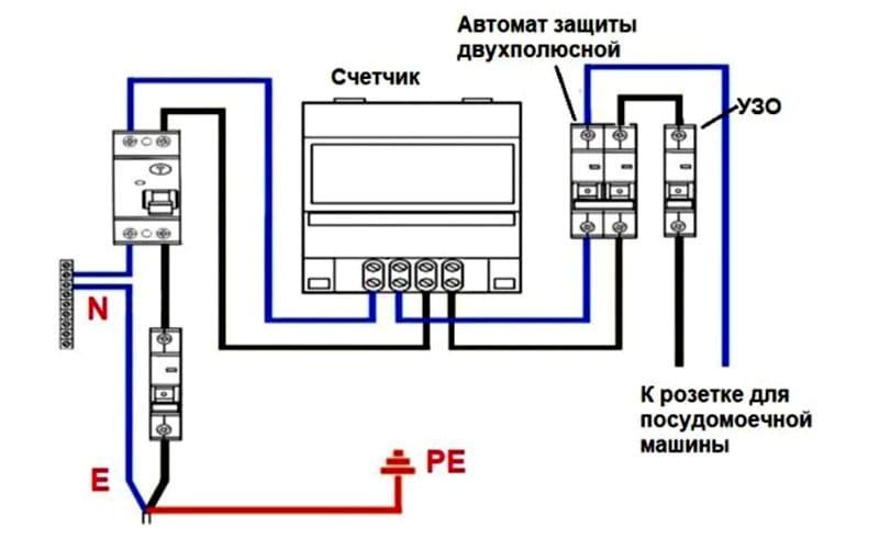 Один из вариантов подключения ПММ к электросети