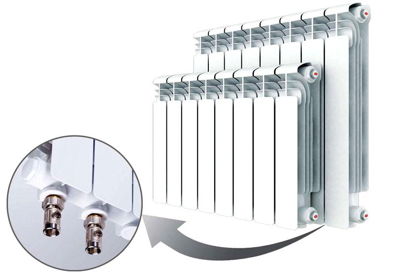 Такие алюминиевые радиаторы не выдерживают промывки агрессивными средствами