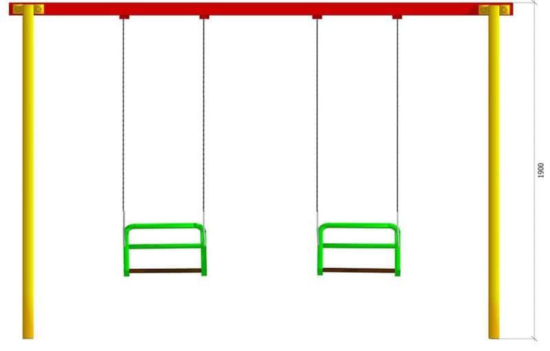 На металлопрофиле длиной 3 м вполне комфортно можно закрепить 2 посадочных места