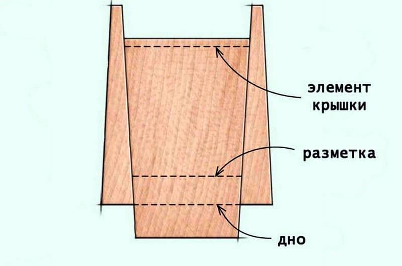 Эскиз заготовки крышки и дна шкатулочки
