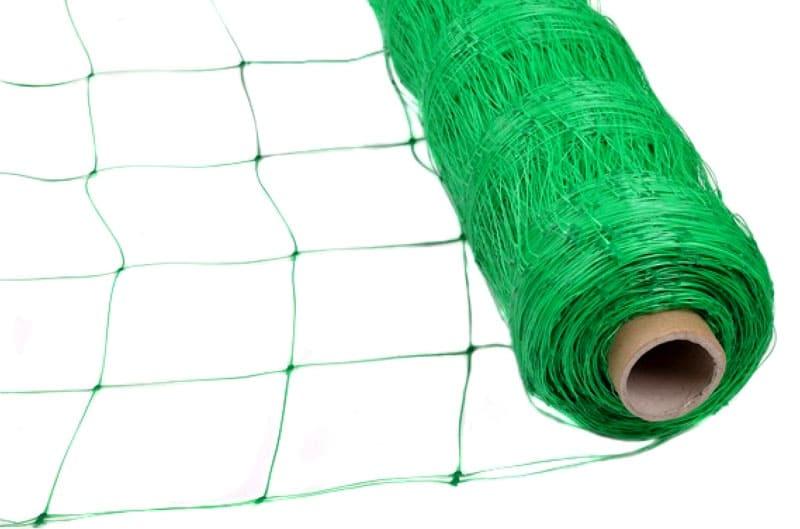 Пластиковая сетка для подвязки огурцов
