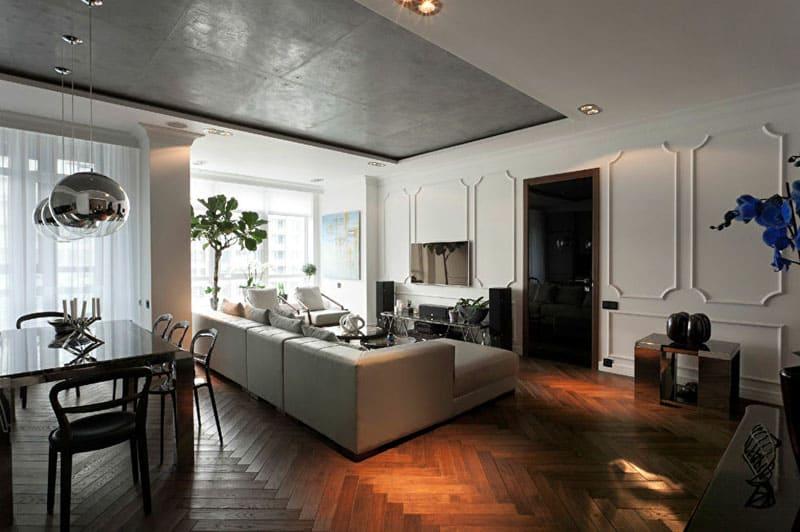 Удачное сочетание лофта в отделке и предметах мебели