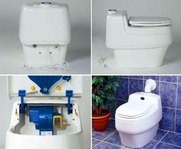Устройство электрического туалета для дачи