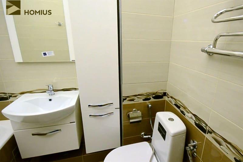 Удобная ванная комната на 3 квадратных метрах от читателя Homius