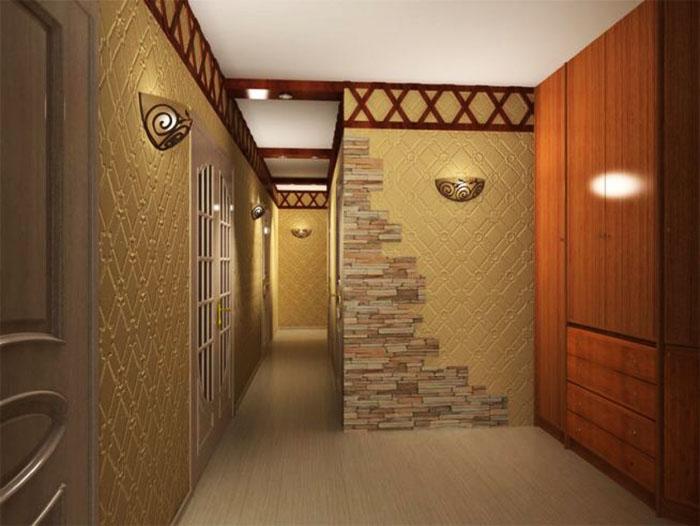 Декоративный камень для украшения углов, прихожей и арок быстро превращает современную квартиру в старомодную. Также признак плохого вкуса – использование пластиковых панелей «под камень» для отделки стены в гостиной