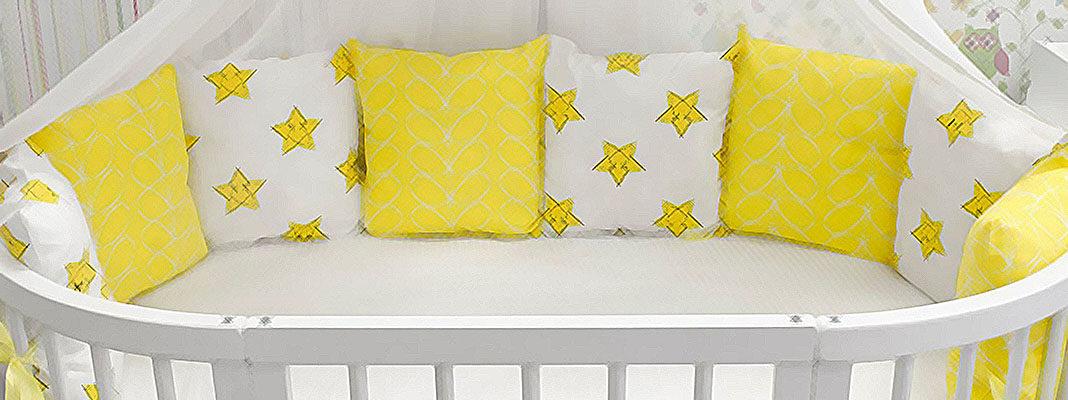 Бортики в кроватку для новорождённых своими руками