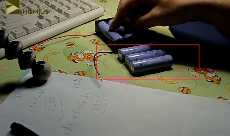 Три аккумуляторных батареи удалось «раскачать» до 6800 мА·ч