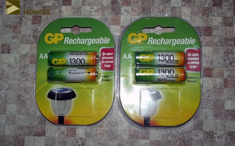 Вот такие аккумуляторы на 1300 мА·ч можно приобрести в магазинах
