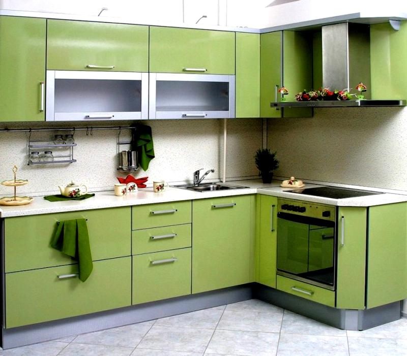 Зелёный – самый популярный цвет для кухни