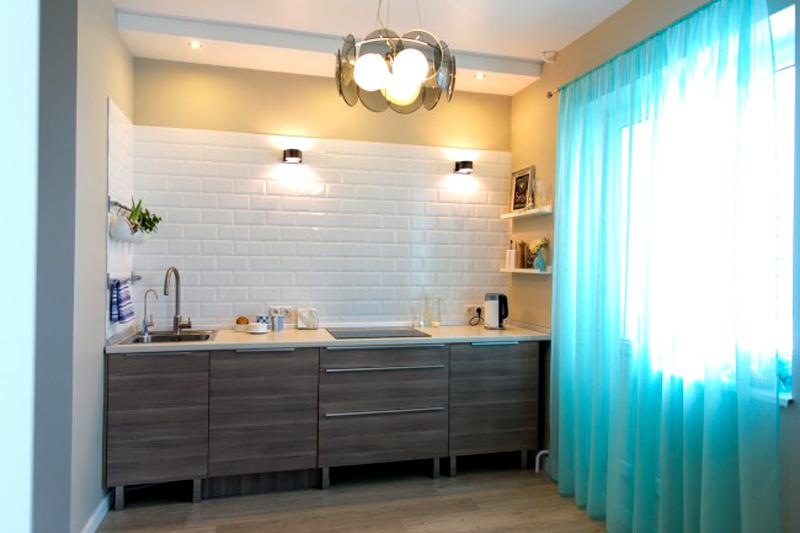 Хорошо, когда текстиль сочетается по цвету с мебелью или стенами