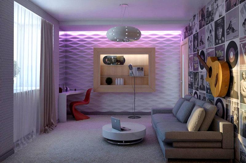 Ковролин смотрится очень красиво, если подобрать подходящий под интерьер комнаты оттенок