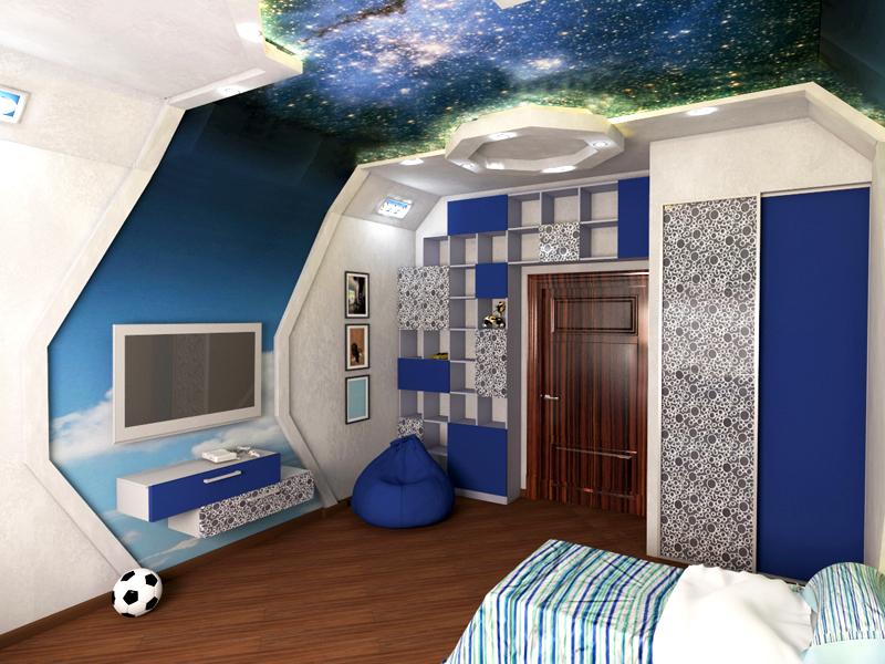 Некоторым мальчикам-подросткам нравится комната, напоминающая звездолёт