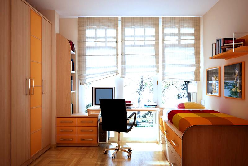 Лаконичный дизайн и несколько ярких акцентов – идеальное решение для комнаты юноши