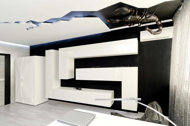 Любитель фантастики оценит экстраординарное оформление потолка