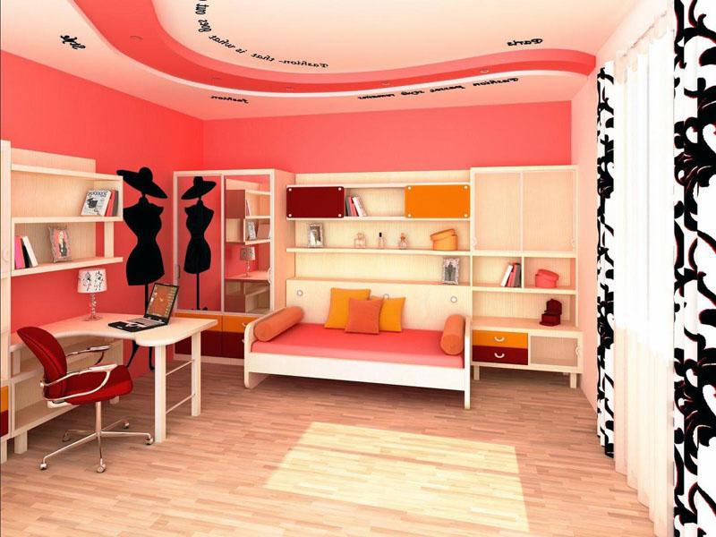 Девочка, которая хочет стать дизайнером, может оформить комнату в стиле французского ателье