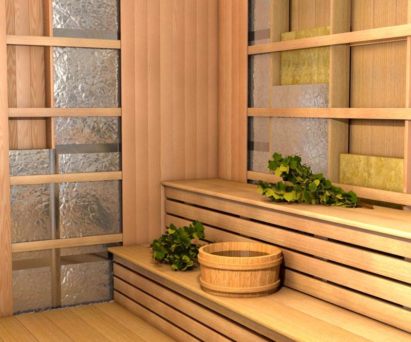 Фольга обеспечивает огнестойкость поверхностей в бане