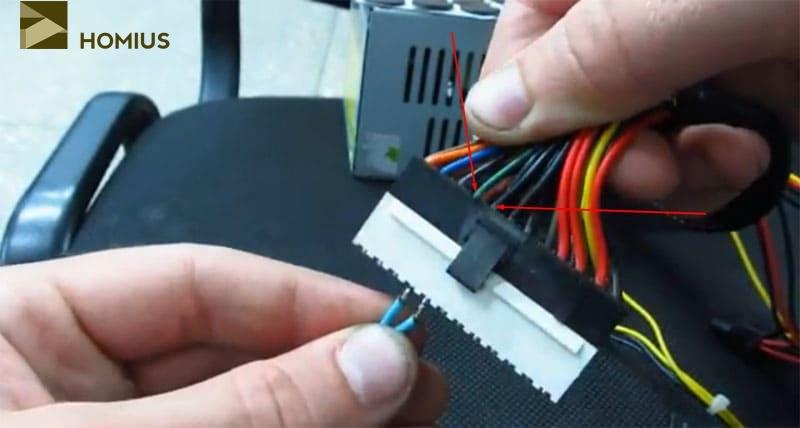 Подключение инфракрасного паяльника к компьютерному блоку питания
