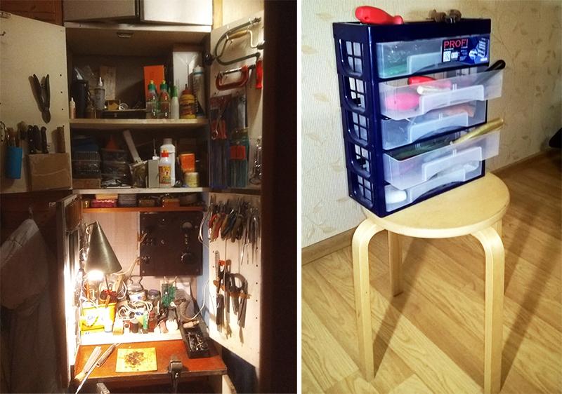 Моё собственное рабочее место и ящик для инструментов-микрокомод