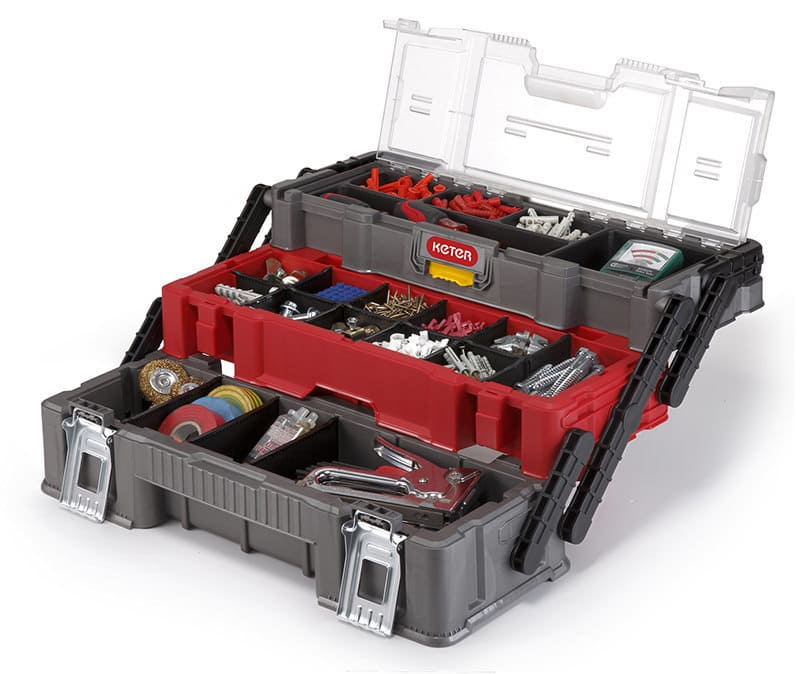 Ящик для инструмента в раскрытом виде