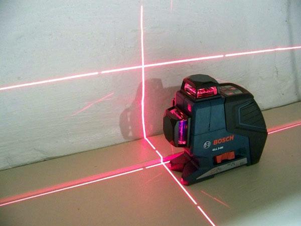 Работа с лазерными нивелирами