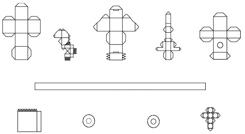 Не обязательно делать кубик стандартной формы, можно выбрать необычный вариант