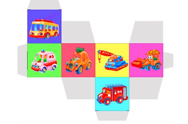Развёртка для детского куба с рисунками