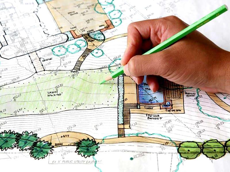 План-схема поможет наглядно увидеть размещение всех объектов на участке