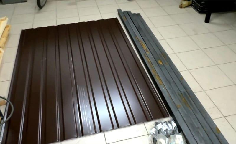Материал, необходимый для изготовления подъёмных ворот