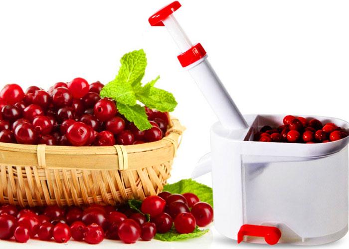 Специальный мини-агрегат в разы ускорит процесс, практически не повреждая мякоть ягоды