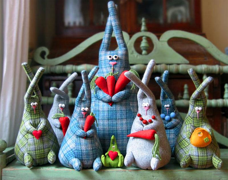 Выкройка зайца для пошива игрушки своими руками