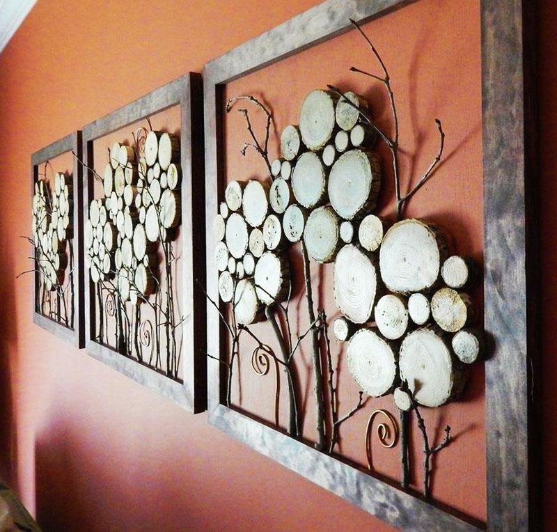 Объёмное панно в раме создаст неповторимую атмосферу в вашей гостиной, а также наполнит её ароматом хвои