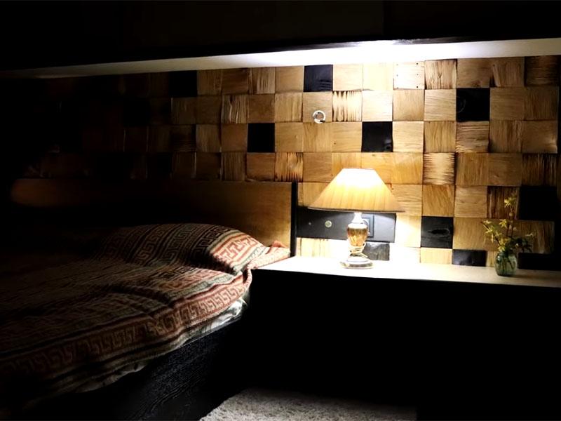 И обычный мягкий свет прекрасно впишется в подобную сказку