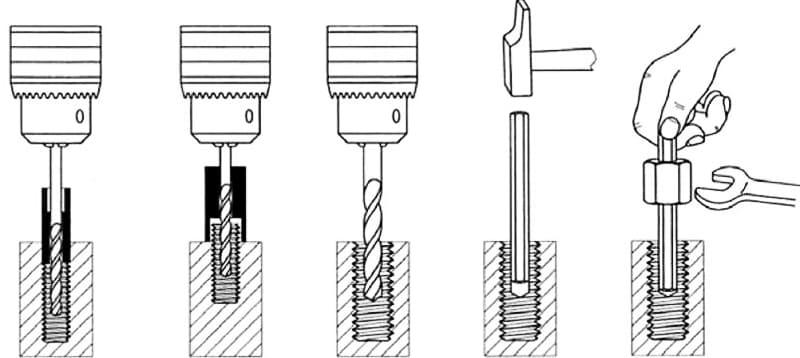В некоторых моделях экстрактор механическим способом проникает внутрь шурупа или винта